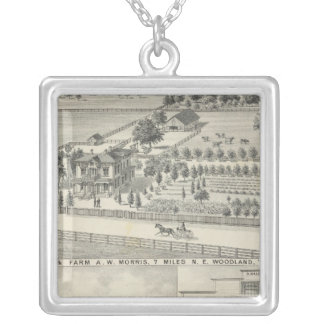 Woodland residences, farms silver plated necklace