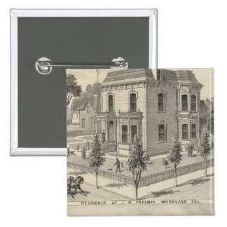 Woodland residences lithographed button