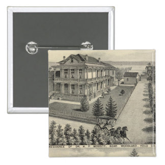 Woodland residences lithographed drawing button