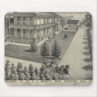 Woodland residences lithographed drawing mouse pad