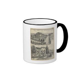 Woodland residences lithographed drawing ringer coffee mug