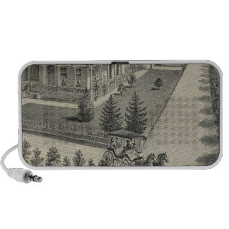 Woodland residences lithographed drawing iPhone speaker
