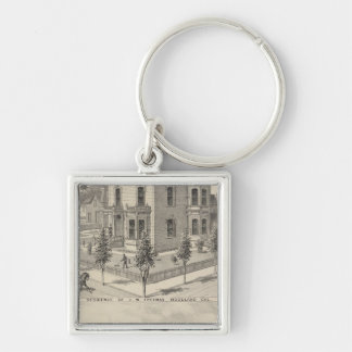 Woodland residences lithographed key chains