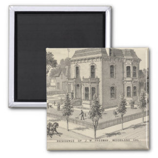 Woodland residences lithographed 2 inch square magnet