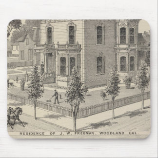 Woodland residences lithographed mouse pad