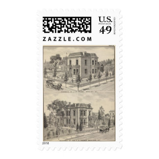 Woodland residences lithographed postage stamps