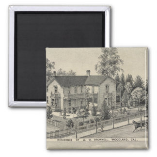 Woodland residences 2 inch square magnet