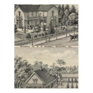 Woodland residences postcard