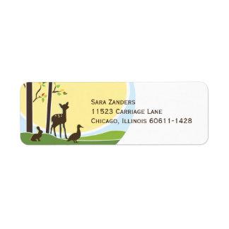 Woodland Return Address Label