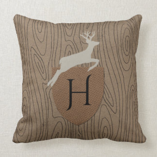 Woodland Rhapsody Monogram Throw Pillow