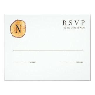 Woodland Rings | Wedding Invitation RSVP