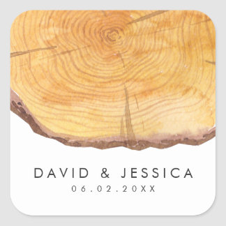 Woodland Rings | Wedding Square Sticker