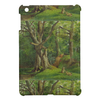 Woodland Scene with Rabbits, 1862 (oil on canvas) Cover For The iPad Mini