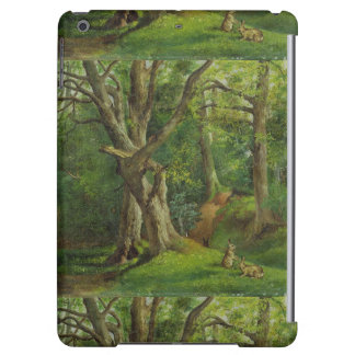 Woodland Scene with Rabbits, 1862 (oil on canvas) iPad Air Case