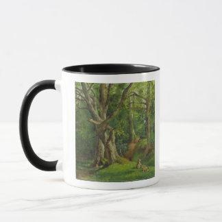 Woodland Scene with Rabbits, 1862 (oil on canvas) Mug