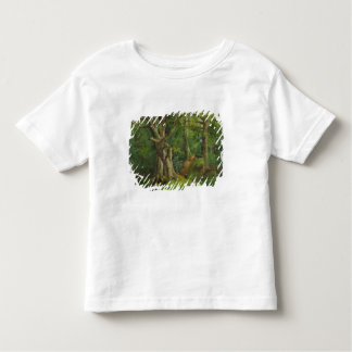 Woodland Scene with Rabbits, 1862 (oil on canvas) Toddler T-shirt