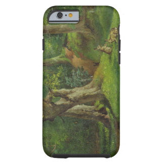 Woodland Scene with Rabbits, 1862 (oil on canvas) Tough iPhone 6 Case