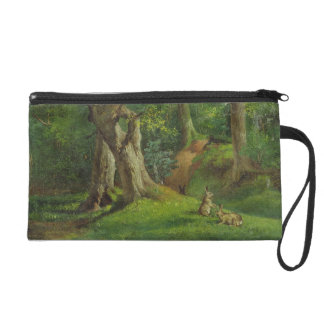 Woodland Scene with Rabbits, 1862 (oil on canvas) Wristlet