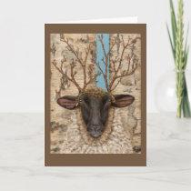 Woodland Sheep greeting card