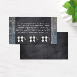 Woodland Shower Bear Book Request Insert Cards
