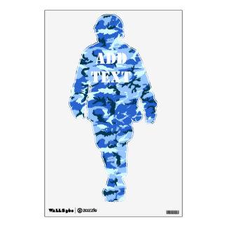 Woodland Sky Blue Camouflage Wall Sticker
