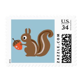 Woodland Squirrel Stamp