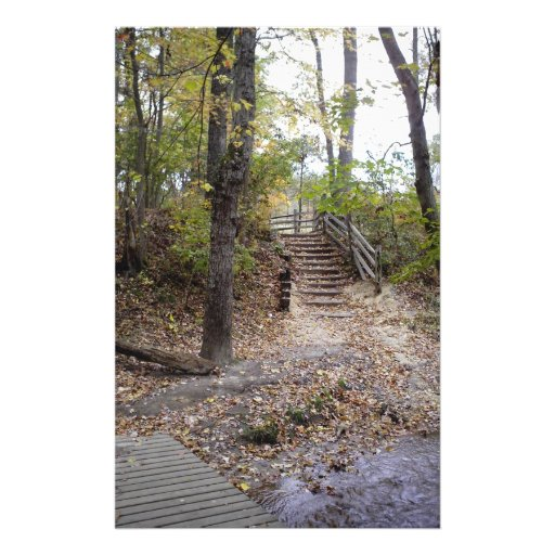 Woodland staircase stationery design