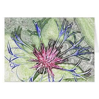 Woodland star flower customizable note card