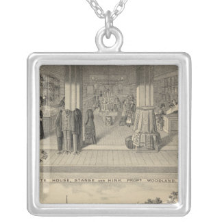 Woodland store, college silver plated necklace