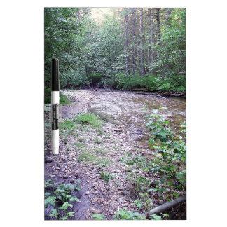 Woodland stream dry erase whiteboards