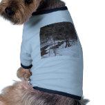 Woodland Stream In Winter Dog Shirt