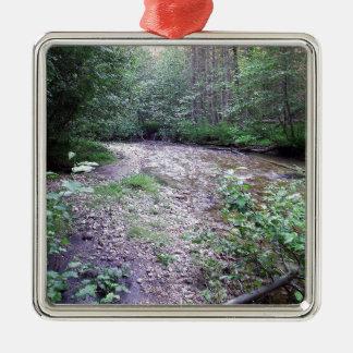 Woodland stream metal ornament