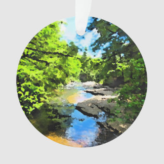 """Woodland Stream"" Ornament"
