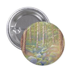 Woodland Stream, Peak District, Derbyshire Badge Pinback Button