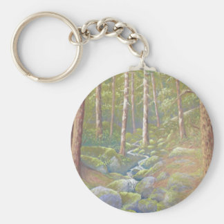 Woodland Stream, Peak District Derbyshire Key Ring Basic Round Button Keychain