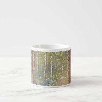 Woodland Stream, Peak District Pastel Espresso Mug