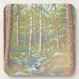 Woodland Stream, Peak District Plastic Coasters