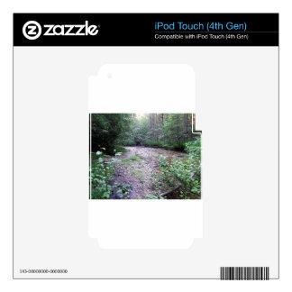 Woodland stream iPod touch 4G skin