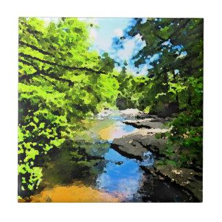"""Woodland Stream"" Tile"