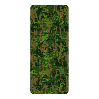 Woodland Style Digital Camouflage Accent Card