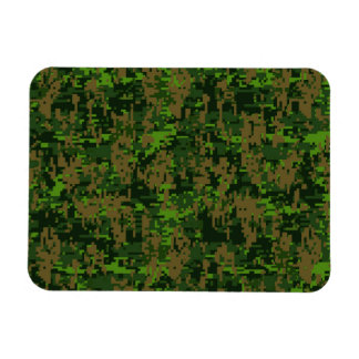 Woodland Style Digital Camouflage Accent Decor Magnet