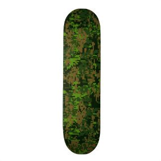 Woodland Style Digital Camouflage Accent Decor Skateboard