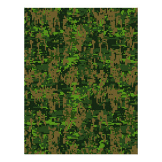 Woodland Style Digital Camouflage Accent Flyer