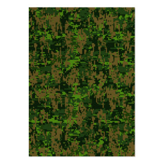 Woodland Style Digital Camouflage Accent Large Business Card