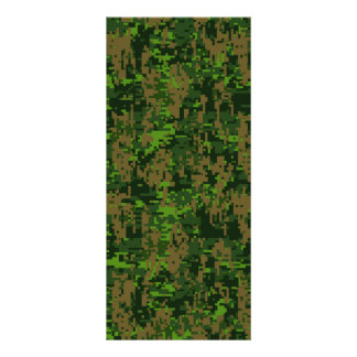 Woodland Style Digital Camouflage Accent Rack Card