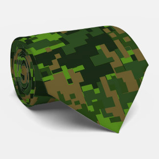 Woodland Style Digital Camouflage Neck Tie