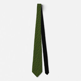 Woodland Style Digital Green Camouflage Decor Tie