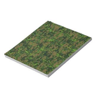 Woodland Style Green Digital Camouflage Notepad