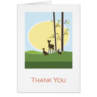 Woodland  | Thank You Card