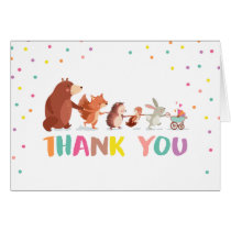 Woodland Thank you card Animals Forest Baby shower